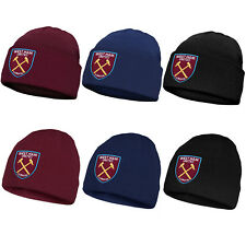West Ham United FC Official Football Gift Knitted Bronx Beanie Hat
