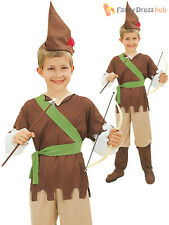 Boys Budget Robin Hood Costume Childs Fairytale Fancy Dress Book Week Outfit