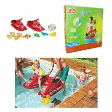 BNWT CHAD VALLEY WATER INFLATABLE SET 2 JET SKIS, BALL, 2 X ARMBAND SETS,4 TOYS