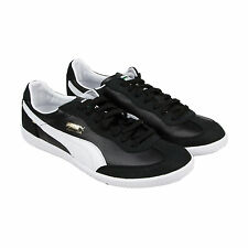 Puma Super Liga Nubuck Mens Black Nubuck Lace Up Lace Up Sneakers Shoes