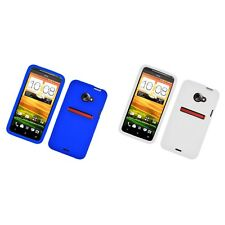 For HTC EVO 4G LTE Case Silicon Gel Rubber Soft Flexible Phone Cover