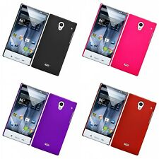 For Sharp Aquos Crystal Hard Snap-On Rubberized Phone Skin Case Cover