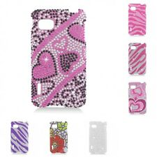 For LG Optimus F3 Sprint LS720 Case Diamond Bling Luxury Fashion Cute Hard Cover