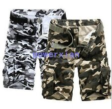 Free Mens Casual Shorts Military Army Cargo Camo Work Pants Trousers Size 29-36