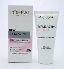 LOREAL TRIPLE ACTIVE DAY MOISTURISER DRY & SENSITIVE SKIN PROTECTION 50ml