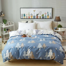Floral Quilt Doona Duvet Cover Set Queen/King Size Size Bed Fitted Sheet Set