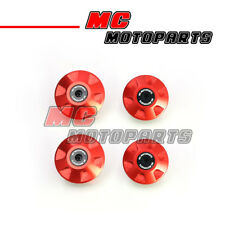 Red CNC Billet Frame Plugs Kit For Ducati Monster 750 All Year 97 98 99