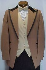 2 tone BROWN w/ VELVET 4pc RETRO AFTER 6 TUXEDO VINTAGE MENS WEDDINGS PROM PARTY