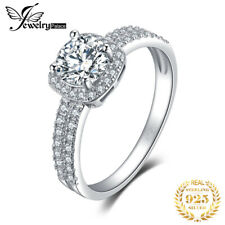 JewelryPalace Halo 1.1ct Round Cubic Zirconia Engagement Promise Ring 925 Silver