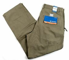 Men's Columbia ROC Pants Relaxed Full Chino Omni-Shade Delta NWT