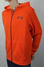 POLO Sport Ralph Lauren Orange Full Zip Fleece Hoodie Sweatshirt NWT
