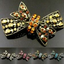 ADD'L Item FREE Shipping - Antiqued Rhinestone Bow Tie Hair Barrette Clip