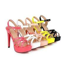 Womens Open Toe Platform High Heels Stiletto strappy buckle Heels Sandals Shoes