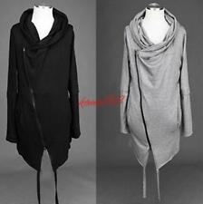 Cosplay Mens Long Sleeve Hooded Pro Zipper Jackets Loose Casual gothic Coats