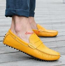 Mens Casual driving loafers Slip on shoes moccasin Gommino breath fashion flat