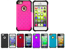 For Apple iPhone 5 5G 5S Hybrid Rubber Rugged Combo Soft Case Hard Cover New