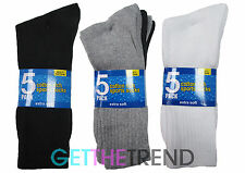 Mens Sports Socks Black White Cotton Rich Work socks Thick Long socks 10/20 pair