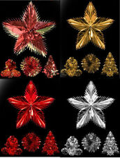 Foil Christmas Hanging Decorations Red Foil Hangers  Bell Star Tree Ball