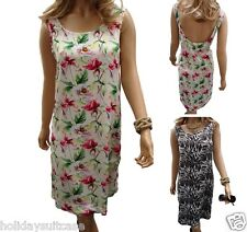 Size 12-20 Ladies womans plunge tropical midi beach summer dress tunic cover up
