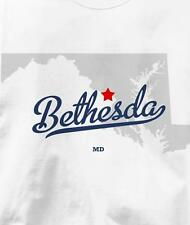 Bethesda, Maryland MD MAP Souvenir T Shirt All Sizes & Colors