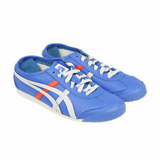 Onitsuka Tiger Mexico 66 Mens Blue Leather Sneakers Shoes