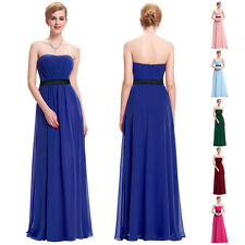 Strapless Satin Formal Dresses Prom Gown Party Cocktail Bridesmaid Evening Dress