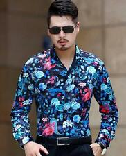 Luxury New silk Floral Print Mens Chemise Homme highquality Dress Shirts New YTK