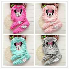 2PCS Toddler Kids Baby Girls Minnie Mouse Outfits Clothes Set T-Shirt Tops