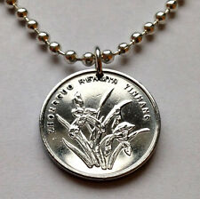 China People's Republic 1 Jiao coin pendant Orchid blossom flowering n000662
