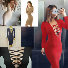 Fashion Sexy Womens Bandage Bodycon Dresses Evening Party Cocktail Club Dress