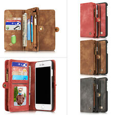 Retro Folio PU Leather Zipper Wallet Card Case-Cover Stand for iPhone 7 / 7Plus