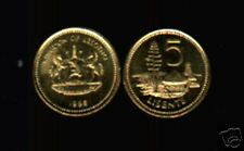LESOTHO 5 LISENTE KM62 1998 HORSE ARM UNC CURRENCY MONEY COIN LOT 100 PCS AFRICA