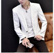 Chic Mens Slim Suit Coats Casual Business Jackets Lapel Collar Blazers Dress Y@2