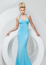 New Tony Bowls 115737 Sexy Blue Jeweled Back Prom Pageant Formal Evening Dress
