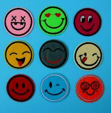 Emotion Mood Smile Happy Face Sad Applique Iron on Sew Patch Embroidery Motif