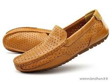 Vintage Mens casual slip on loafer breathable leather Moccasins driving shoes Y@