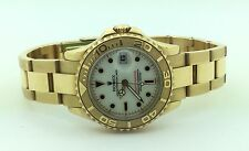 Ladies Rolex Oyster Perpetual 18K Ydellow Gold Yacht Master Automatic Watch