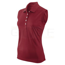 Nike Golf Tech Pique Sleeveless Women's Dri-FIT Polo Shirt size Large Red $40