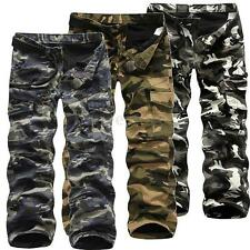 Hot Mens Pants Camo plus think Military Cargo Combat Work ARMY outdoor Trousers
