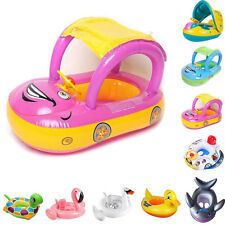 Baby Toddler Kids Car Inflatable Swim Float Floating Seat Swimming Ring Pool Toy