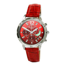 Casio Ladies Analog Watch Casual Red Band SHE-5017L-4A SHE-4800GL-9A