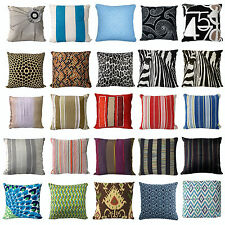 Geometry Pattern Living Bedroom Sofa Square Filled Cushion Pillow