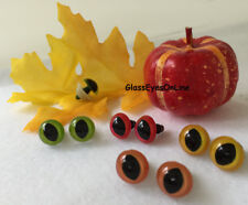 12 PAIR 10mm to 15mm SLIT PUPIL Plastic Safety EYES Frogs, Dragons, Cats SPE-1