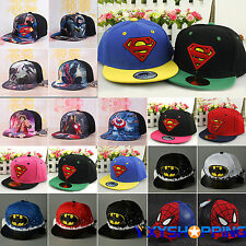 Marvel Superhero Baseball Cap Kids Girls Boys Adjustable Summer Sun Hat Snapback