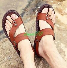 Mens Flats Casual Comfy Shoes Summer Beach fisherman Flip Flops Thongs Sandals