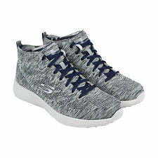 Skechers Burst Up And Under Mens Gray Textile Lace Up Sneakers Shoes