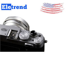 2Pcs Concave Release Shutter Button For Fujifilm Fuji X-E1 X-Pro1 X10 Black