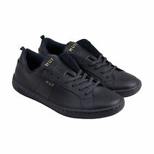 HUF Boyd Mens Blue Leather Lace Up Lace Up Sneakers Shoes