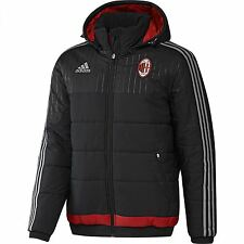 adidas AC Milan Padded Jacket Mens Black Football Soccer Coat Outerwear Serie A