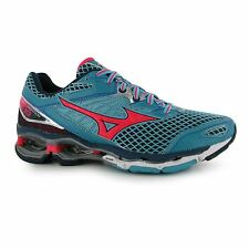 Mizuno Wave Creation 18 Running Shoes Womens Grn/Red/Blk Trainers Sneakers